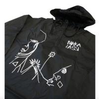 "MAKA LASSI - マカラッシ ""FLOWER"" WINDBREAKER (BLACK)"