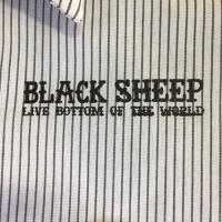 "BLACK SHEEP SKATES-""BOTTOM"" L/S ワークシャツ(WHITE/GRAY)"