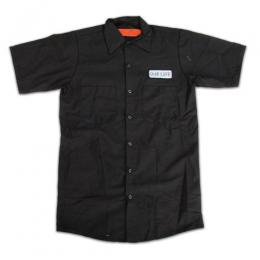"OUR LIFE-アワーライフ ""FIRED"" S/S ワークシャツ (BLACK)"