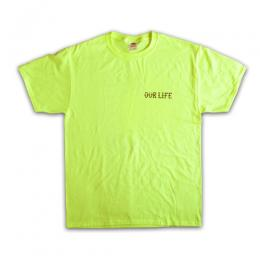 "OUR LIFE SOCKS-アワーライフ""FIRED"" S/Stee (SAFTY GREEN)"