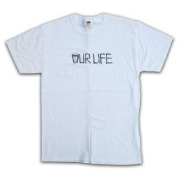 "OUR LIFE-アワーライフ ""NECK FACE"" S/S Tシャツ (WHITE)"