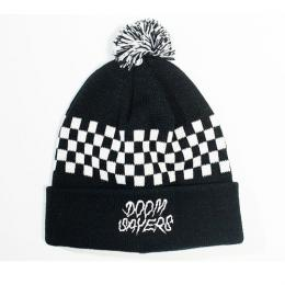 "DOOM SAYERS ""CHECKER BOARD""ボンボンビーニー (BLACK/WHITE)"