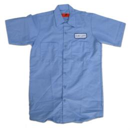 "OUR LIFE-アワーライフ ""FIRED"" S/S ワークシャツ (LIGHT BLUE)"
