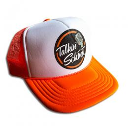 "TALKIN' SCHMIT - ""LOGO"" MESH CAP (NEON ORANGE)"